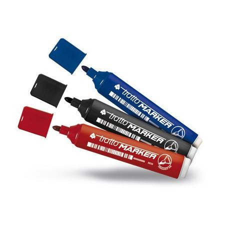 pennarelli tratto marker punta tonda pz 12