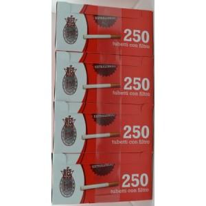 tubi sigarette con filtro rex bravo pezzi 250 confezione da 4 vendite