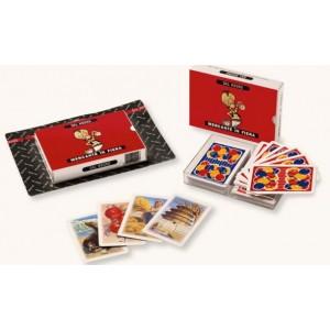 carte da gioco dal negro mercante in fiera