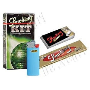 kit distributore smoking accendino-cartina-filtrini