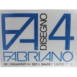 blocco da disegno fabriano f4 24/33 liscio riquadrato