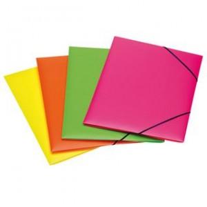 cartelle elastico plastificate riplast 22/30 fluorescenti