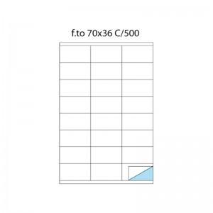 etichette adesive f.to a4 70/36 100 fogli