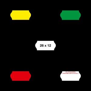 etichette prezzatrice 26/12 fluorescenti