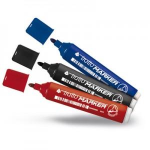 pennarelli tratto marker punta tonda nero/rosso/blu pezzi 12 anche assortiti