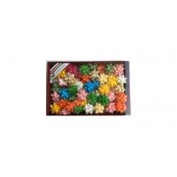 coccarde adesive opaca diametro 6.5 mm fiocco stelle adesive