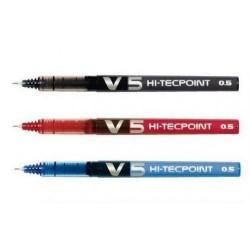 roller  pilot v5 nero/rosso/blu pezzi 12 monocolore