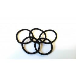 fermacoda ecologico grosso nero 12 blister elastico per capelli casa parrucchieri blucart