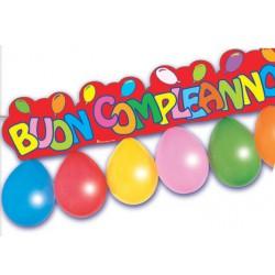 festone con palloncini compleanno festa party pegaso blucart