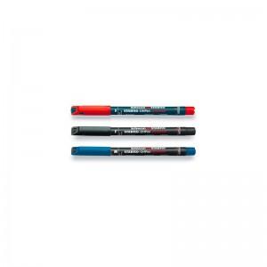 pennarelli stabilo ohpen permanent punta s/f/m nero/rosso/blu pezzi 10 anche assortiti