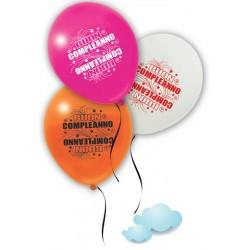 palloncini buon compleanno pegaso colorati festa party blucart