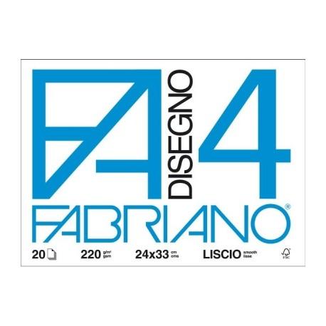 blocco da disegno fabriano f4 24 x 33 cm liscio blucart