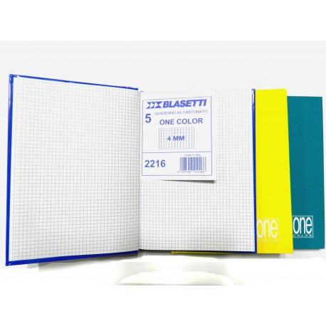 quaderno cartonato a5 blasetti 5mm 4mm 31r pezzi 5 192 pagine 80 gr blucart
