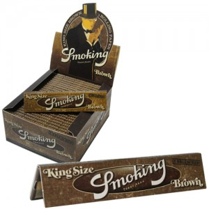 cartine smoking brown  lunghe pezzi 50