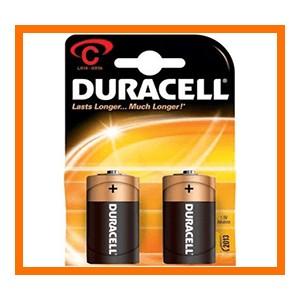 batterie duracell mezza torcia pezzi 10 per 2 C