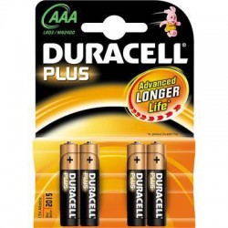 batterie duracell mini stilo pezzi 10 per 4