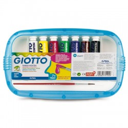 tempere giotto 12 ml 7 colori con pennello