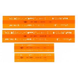 normografo orna mm7 con lettere e numeri