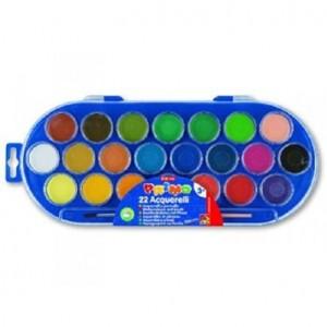 acquarelli cmp 22 colori con piccolo pennello