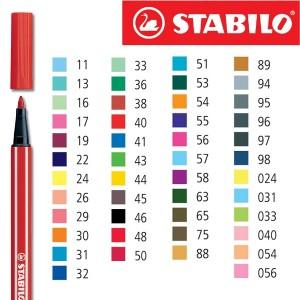 pennarelli stabilo pen 68 scatola da 10 monocolore