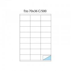 etichette adesive f.to a4 70/36